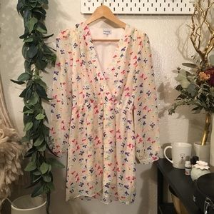 🌿 Modcloth floral rainbow cute kimono dress cute